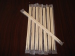 PE Film Packed Round Bamboo Chopsticks