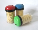 Bamboo Toothpicks Color Bottle Packed
