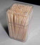 Bamboo Toothpicks with Square Bottle